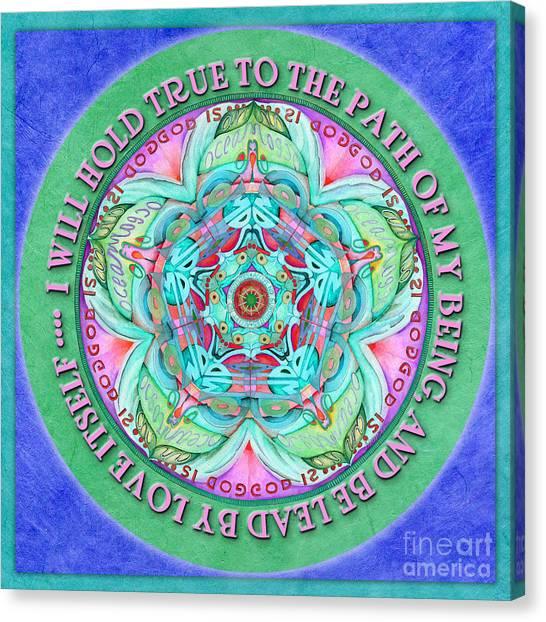 Hold True Mandala Prayer Canvas Print