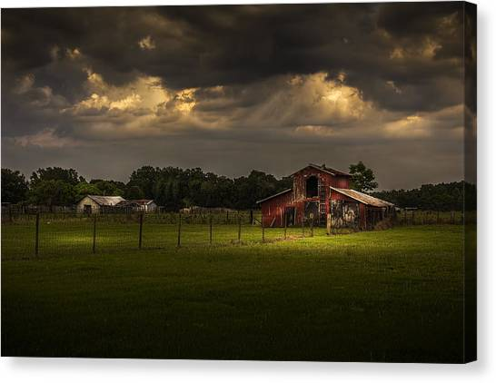 Horse Farms Canvas Print - Hold Your Breath by Marvin Spates