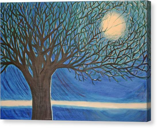 Holding Moon Memories Canvas Print