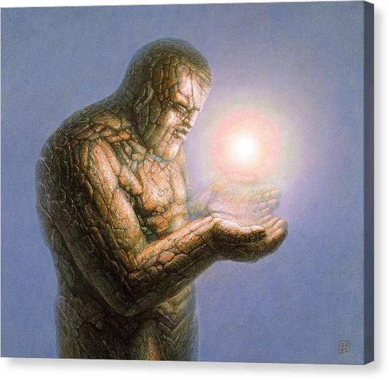 Holding The Light Canvas Print by De Es Schwertberger