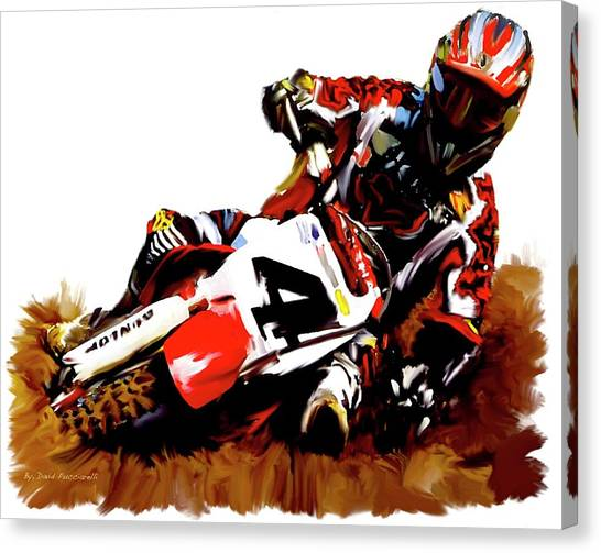 Motocross Canvas Print - Hole Shot Ricky Carmichael by Iconic Images Art Gallery David Pucciarelli