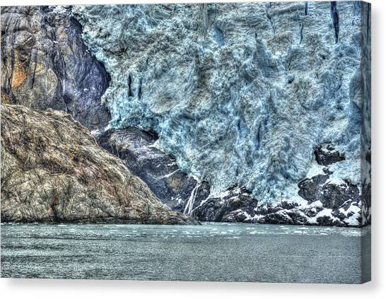 Holgate Glacier Hdr Canvas Print