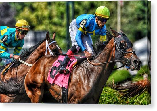 Holiday Bonus W Irad Ortiz,jr Canvas Print