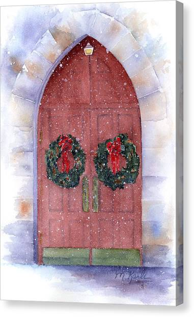 Holiday Chapel Canvas Print