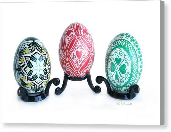 Holiday Eggs Canvas Print