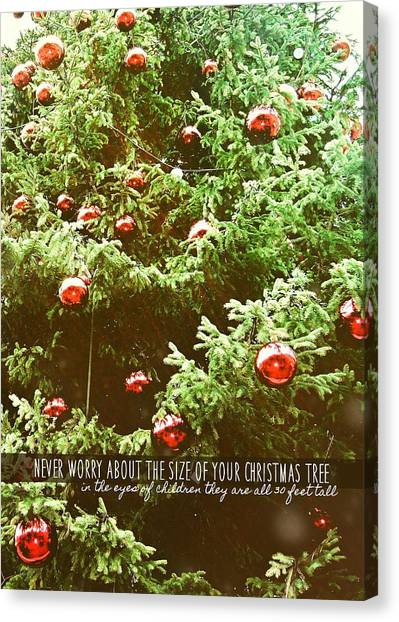Holiday Garnish Quote Canvas Print by JAMART Photography