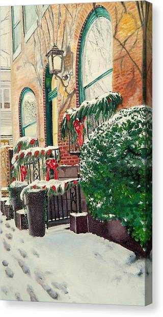 Holiday In The City Canvas Print by John Schuller