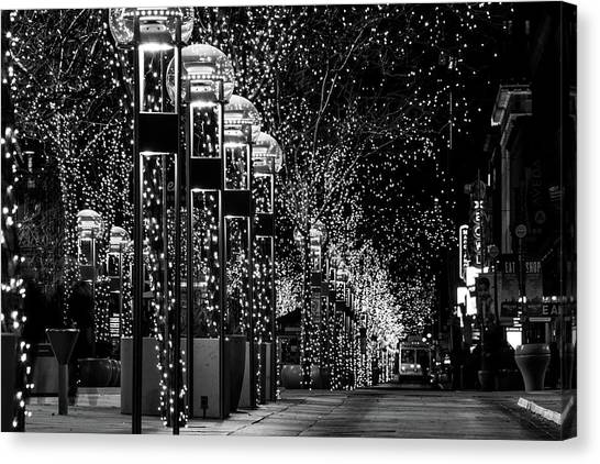 Holiday Lights - 16th Street Mall Canvas Print