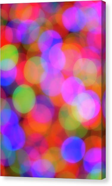 Christmas Lights Canvas Print - Holiday Lights by Darren White