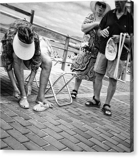Streets Canvas Print - Holiday-makers  #people #beach by Rafa Rivas