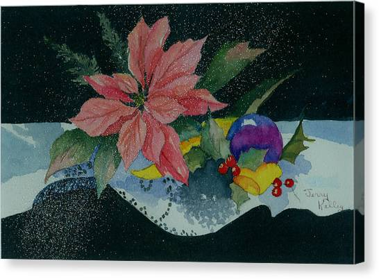 Holiday Poinsettia Canvas Print