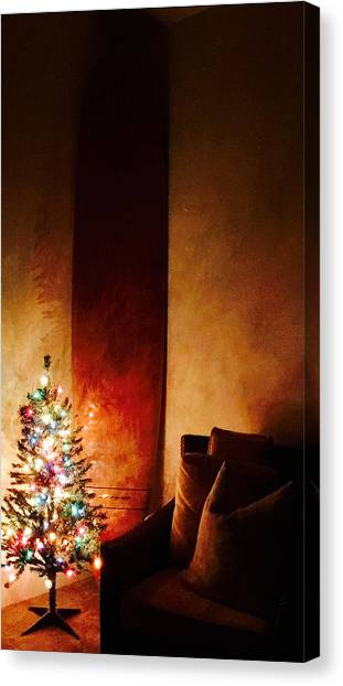 Holiday Surfboard Canvas Print