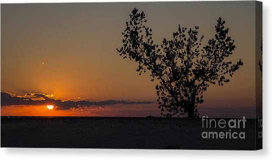 Big Red Canvas Print - Holland Beachfront by Twenty Two North Photography