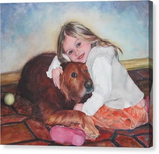 Hollis And Hannah - Cropped Version Canvas Print