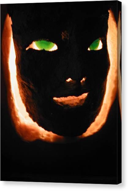 Holloween Mask Canvas Print by Mark Stevenson