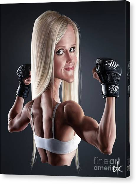 Mma Canvas Print - Holly Holm by Andre Koekemoer