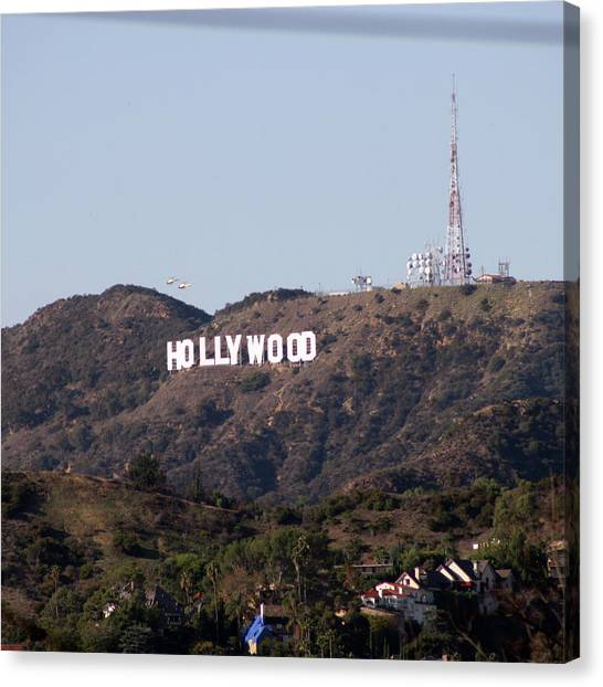 Hollywood And Helicopters Canvas Print