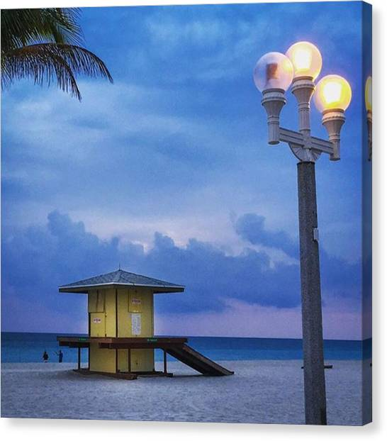 Hollywood Canvas Print - Hollywood Beach Blues #juansilvaphotos by Juan Silva