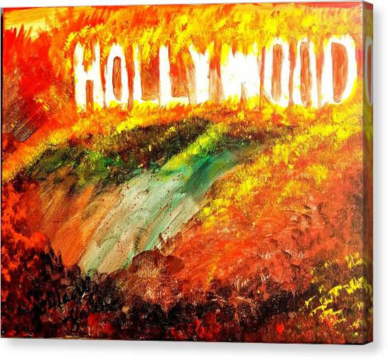 Hollywood Burning Canvas Print