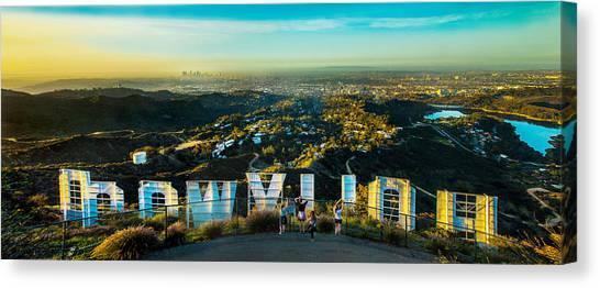 City Sunrises Canvas Print - Hollywood Dreaming by Az Jackson