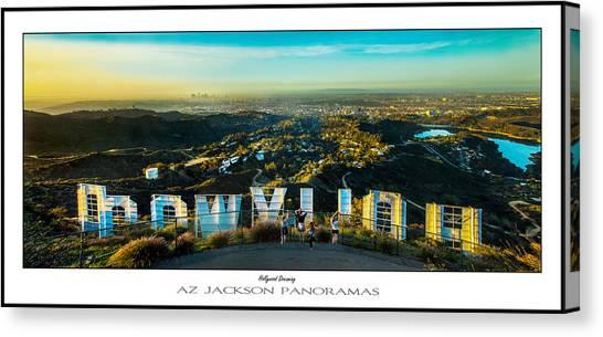 City Sunrises Canvas Print - Hollywood Dreaming Poster Print by Az Jackson
