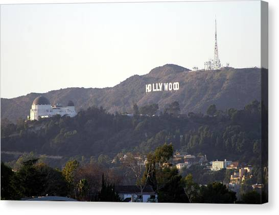 Hollywood Hills And Griffith Observatory Canvas Print