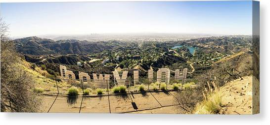 Los Angeles Skyline Canvas Print - Hollywood by Michael Weber