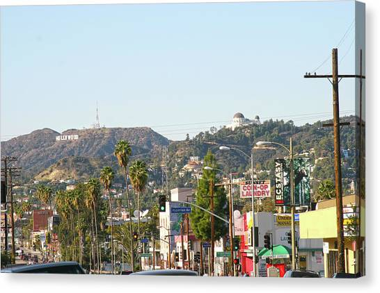 Hollywood Sign Above Sunset Blvd. Canvas Print