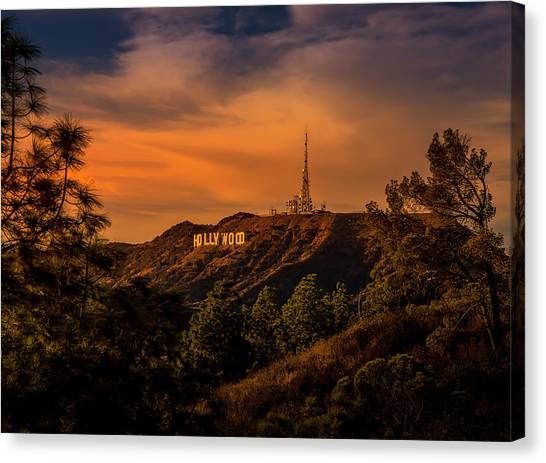 Hollywood Sunset Canvas Print