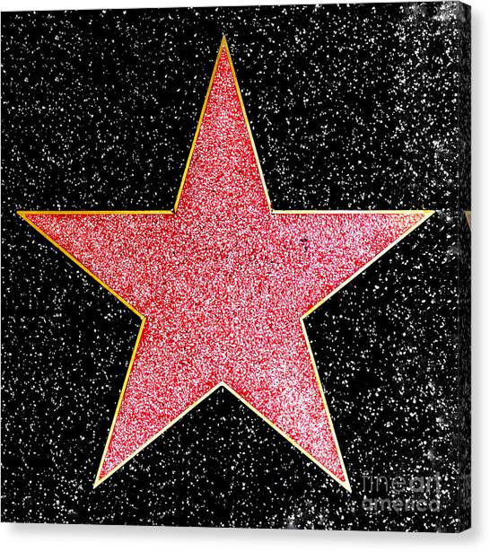 Hollywood Walk Of Fame Star Canvas Print