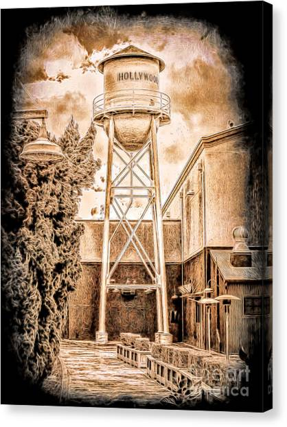 Hollywood Water Tower Canvas Print