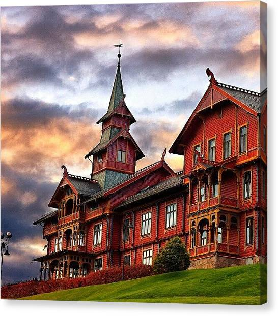 Colorful Canvas Print - Holmenkollen Hotell by Torbjorn Schei