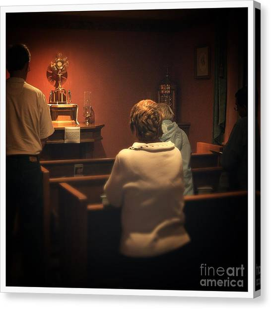 Holy Adoration Altar Canvas Print