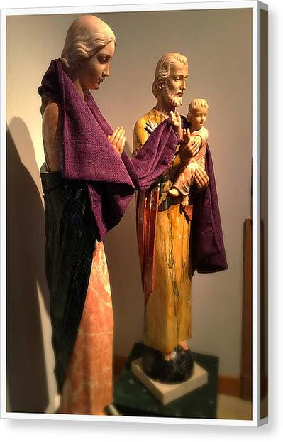 Case Canvas Print - Holy Family - Lent by Frank J Casella