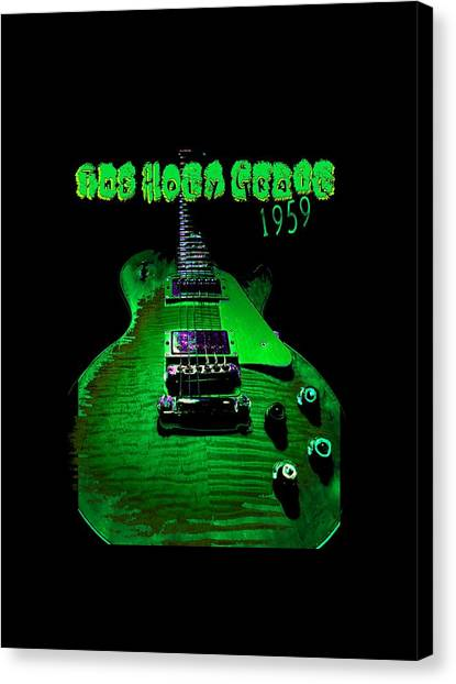Canvas Print featuring the photograph Holy Grail 1959 Retro Relic Guitar by Guitar Wacky