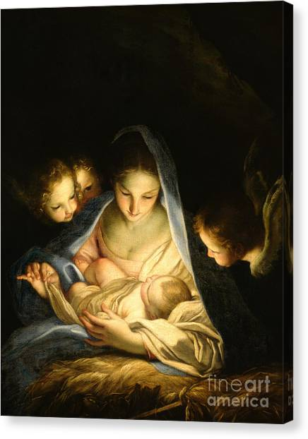 Mary Canvas Print - Holy Night by Carlo Maratta