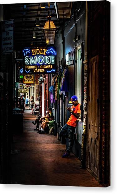 Holy Smoke Bourbon Street Canvas Print