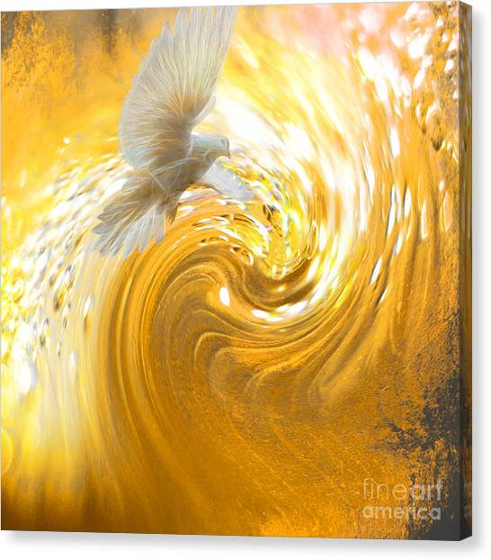 Meditate Canvas Print - Holy Spirit Come by Beverly Guilliams