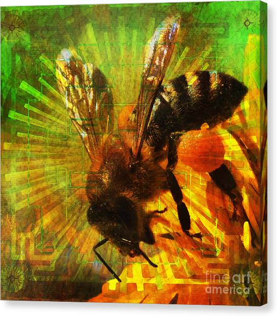 Homage To A Bee 2015 Canvas Print
