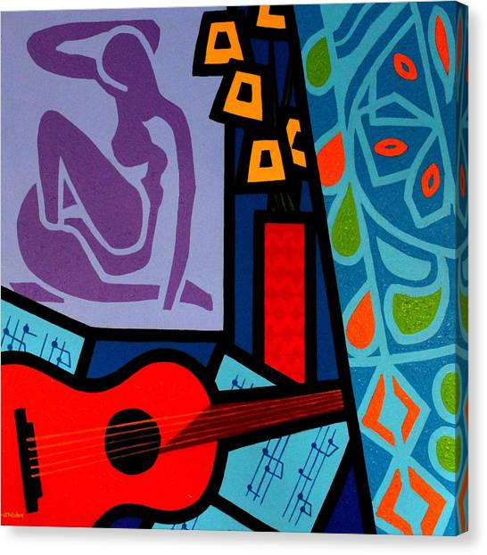Egyptian Art Canvas Print - Homage To Matisse II by John  Nolan
