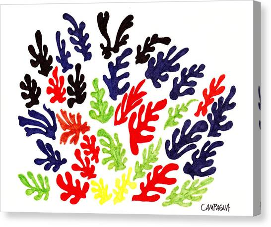 Canvas Print featuring the drawing Homage To Matisse by Teddy Campagna