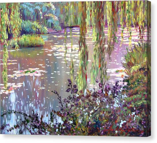 Homage To Monet Canvas Print by David Lloyd Glover