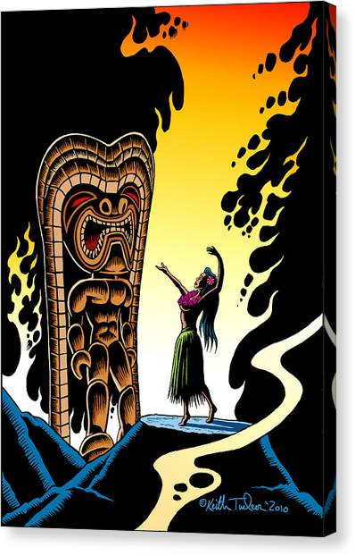 Hawaii Canvas Print - Homage To Tiki by Keith Tucker