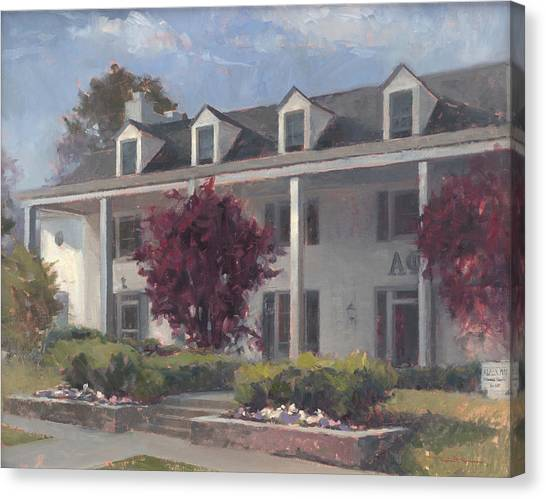 Alpha Phi Canvas Print - Home Away From Home by Forrest  Formsma