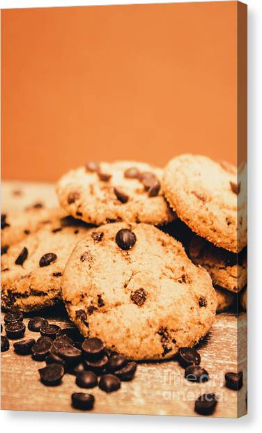 Biscuits Canvas Print - Home Baked Chocolate Biscuits by Jorgo Photography - Wall Art Gallery