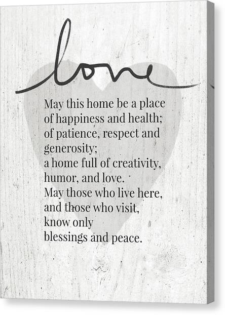 Farmhouse Canvas Print - Home Blessing Rustic- Art By Linda Woods by Linda Woods