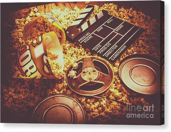 Popcorn Canvas Print - Home Cinema Art by Jorgo Photography - Wall Art Gallery