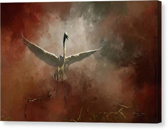 Egrets Canvas Print - Home Coming by Marvin Spates