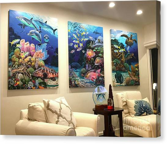 Fish Tanks Canvas Print - Home Decorations by Carey Chen