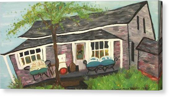 Home In Feeding Hills Mass Part 1 Canvas Print by Suzanne  Marie Leclair